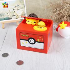 Pokemon Go Pikachu Coin Bank Moving Electronic Money Piggy Bank Box Gift