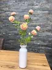 Artificial Faux Silk Flower Arrangement Realistic Luxury Blush Pink Ranunculus