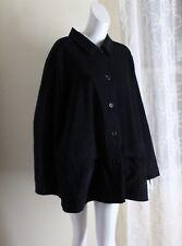 NWT Jessica Holbrook -Sz 3X Black Moleskin Super Soft Longer Tunic Jacket Coat