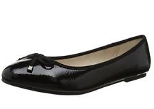 Evans Roo Womens UK 6 E Wide Fit Black Patent Flat Ballerina Ballet Pumps Shoes
