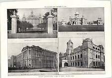 1912 Calcutta Medical College Secretariat Government House Gate