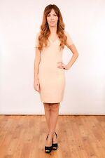 Nude pink pencil wiggle sheer panel dress Kardashian Kollection for LIPSY sz 8