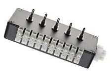 POINT MOTOR SWITCH BOX, 5 MOUNTED SWITCHES FOR PECO HORNBY SEEP ETC EXPO 28069