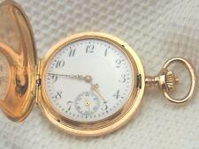 Vecchie signore Salto Coperchio Orologio da tasca 585/- Oro 3 COPERCHIO ZENITH