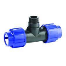 """T-Stück AG 25 x 1/2"""" x 25 PP PE Rohr Verschraubung Trinkwasser"""
