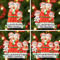 Personalised Family Christmas Tree Xmas Decoration Ornament -Pyjama Family 2 - 6