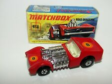 Matchbox Superfast No 19 Road Dragster DARK RED Horizontal Labels VNMIB