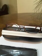 Vogue Eyeglass Frame Light Gold with crystals VO3745-B/811 51-16-135