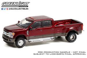 Greenlight 1:64 2019 Red w/ Gray Ford F-350 Dually Truck Diecast Model  46070-F