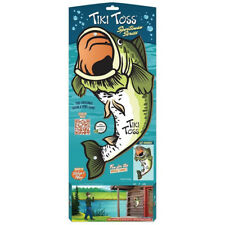Tiki Toss Hook and Ring Toss Game - Bass Edition