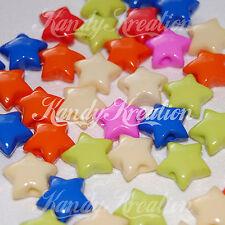 100 Star Pony Beads 16mm for Kandi Rave Bubblegum Necklace Jewelry Craft Beading