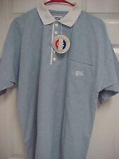 GREENLINE SPORT Men Light Blue Short Sleeve Polo Shirt M New Tags Elder Beerman