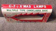Vintage C7 1/2  Christmas Light Bulbs