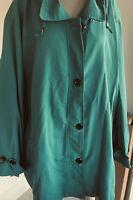 Lane Bryant Windbreaker Jacket with Hood Plus Size 4X  EUC