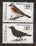 Chile Vögel Drossel Ammer 1998 ** Mi. 1876/77