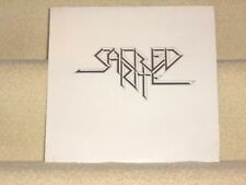 "SACRED RITE-""Sacred Rite"": SEALED 1984 heavy metal private pressing LP/b&w cover"