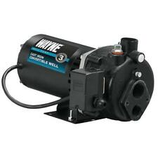 1/2 HP Convertible Jet Pump Deep or Shallow Water Well Cast-Iron Pressure Switch