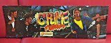 Crime Fighters Video Arcade Game Marquee Translight, Konami 1989