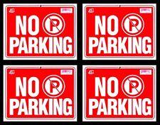 "4 NO PARKING  Flexible Heavy  Plastic  Sheet  9""x12""  4 Sign"
