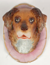 """Paper-weight ""Dog's head"""" Bohemian biscuit porcelain, ca. 1850"