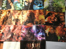 FARSCAPE SET OF 9 DVD POSTCARDS UK EXCLUSIVE PROMO