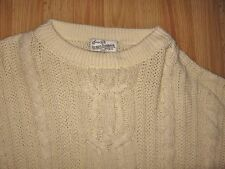 Sears Roebuck & Co   beige cable knit sweater    XL -XXL?