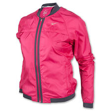 NIKE DRI FIT SPHERE BOMBER WOMENS TRACK RUNNING JACKET XS PINK THERMAL 520336