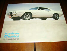 1969 PONTIAC TRANS AM  ***ORIGINAL 1991 ARTICLE*** MUSCLE CAR CLASSIC