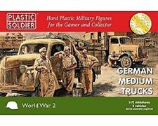 WW2V20020 - 20mm GERMAN MEDIUM TRUCKS - PLASTIC SOLDIER 1/72