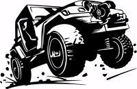 Jeep Mud Club Off Road 4 x 4 Car Truck Window Laptop Vinyl Decal Sticker