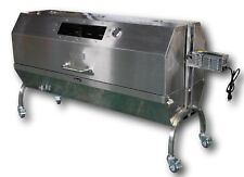 "62"" Charotis Charcoal 60W motor, Stainless Steel BBQ spit roaster -Model SSH1-LX"