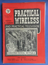 PRACTICAL WIRELESS - Magazine - February 1950 - TV Receiver Construction Details