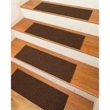 "Halton Carpet Stair Treads Non-Slip 9"" x 29"" Set of 10  CHARCOAL GRAY"