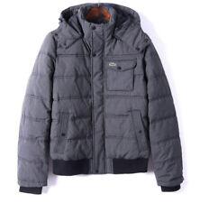 Lacoste Live Herren Winter jacke Farbe Grau Neu & Original ohne Etikett