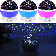 Night Lamp USB LED Projector Rotating Light Star Sky Romantic Kids Cosmos Party