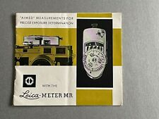 Leica Meter MR, instructions Booklet