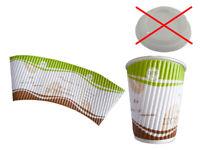 50 Coffee to go Becher Kaffeebecher Pappbecher weiß 200 ml Ø 73 mm 76220