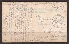 AUSTRIA / ITALY. FELDPOST / FIELD POST. 1916. FPO 482b. CAVARY CHARGE INSTRUCTOR