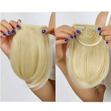 Real Natural Hair Extension Clip In Front Hair Bangs Fringe human Straight New