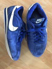 Vintage 1995 Nike Cortez Shoes Blue Leather 8 Rare 100% Authentic