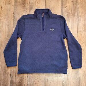 """WEIRD FISH Navy Blue Popover Seater (Size L/Chest 43"""") 1/4 Zip Sweatshirt"""