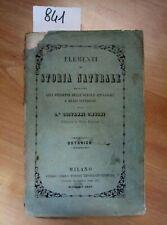ELEMENTI DI STORIA NATURALE BOTANICA 1857 GIOVANNI OMBONI - 841