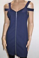 TEMT Brand Navy Blue Textured Zip Front Dress Size XL BNWT #TG35
