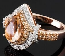 Bella Luce Esotica™ 2.72ctw Morganite & Diamond Sim Eterno Rose Ring Size 9