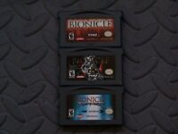 Lot Nintendo Game Boy Advance GBA Games Bionicle Maze of Shadows, Heroes +