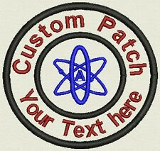"""Science 3.5"""" Circle Patch, label, Tag, Badge - Add text - Iron On, or Sew On"""