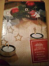 Teelicht Pyramide Teelicht Pyramide Silber Windspiel Engel Weihnachten Xmas