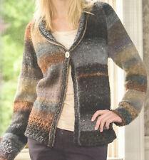 Lovely Aran Weight Ladies Cardigan Jacket Knitting Pattern ...