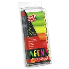 Gutermann Sew All Thread Set - NEONS - Reds / Yellows / Greens - 7 Reels