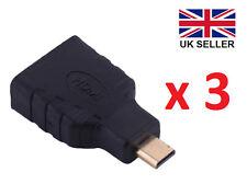 3 x HDMI Hembra a Micro HDMI macho adaptadores